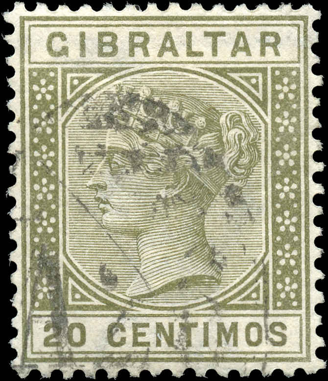 Gibraltar, ##31A, F-VF, Used
