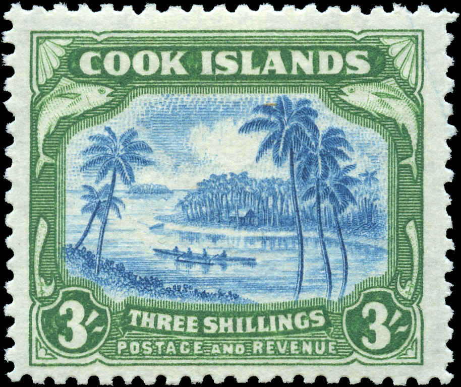 Cook Islands, #114, F-VF, MH