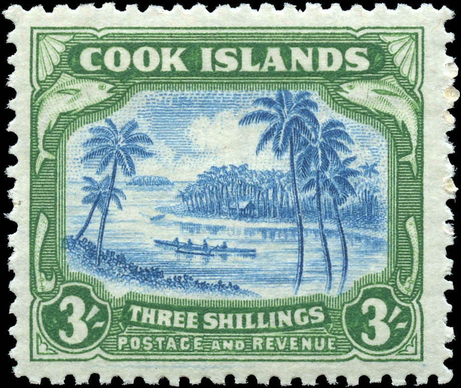 Cook Islands, #124, F-VF, MH
