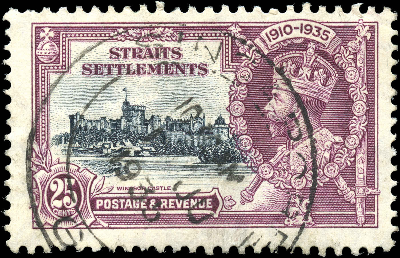 Straits Settlements, #216, F+, Used