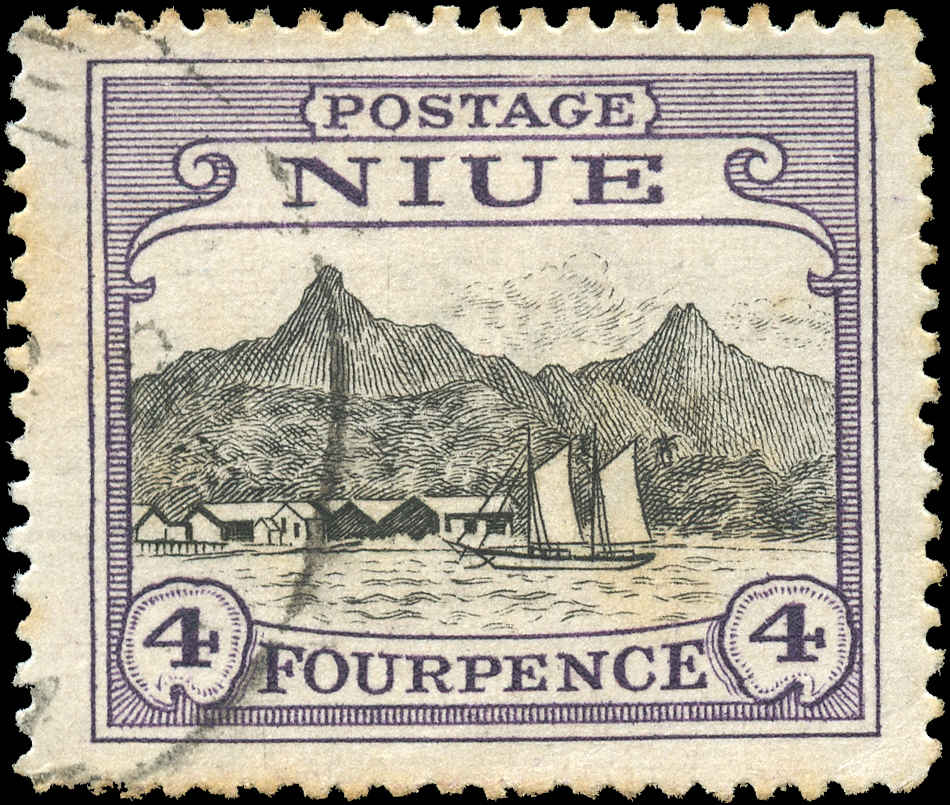 Niue, ##44, F-VF, Used