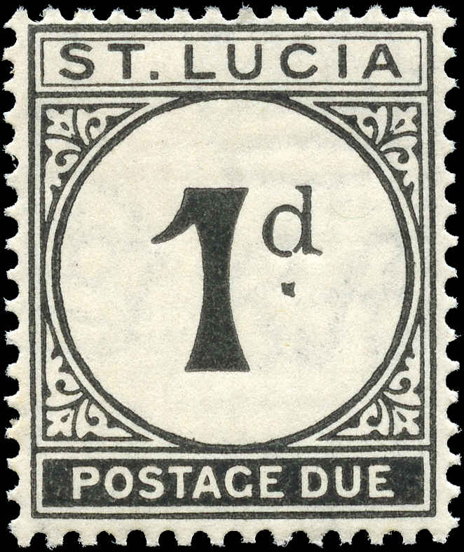 St. Lucia, #J3, F+, MH