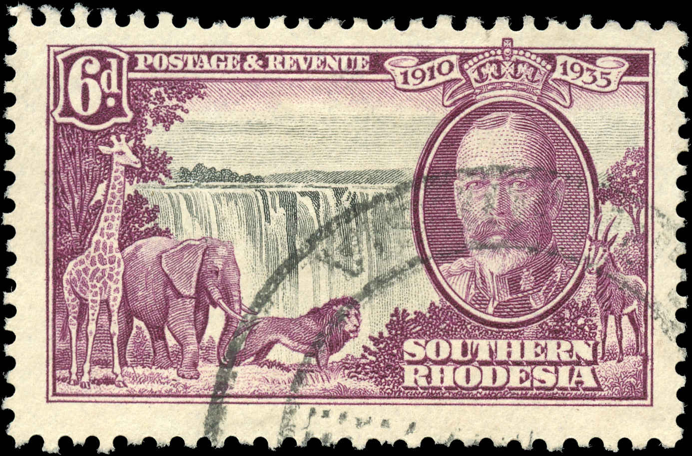 Southern Rhodesia, ##36, F-VF, Used