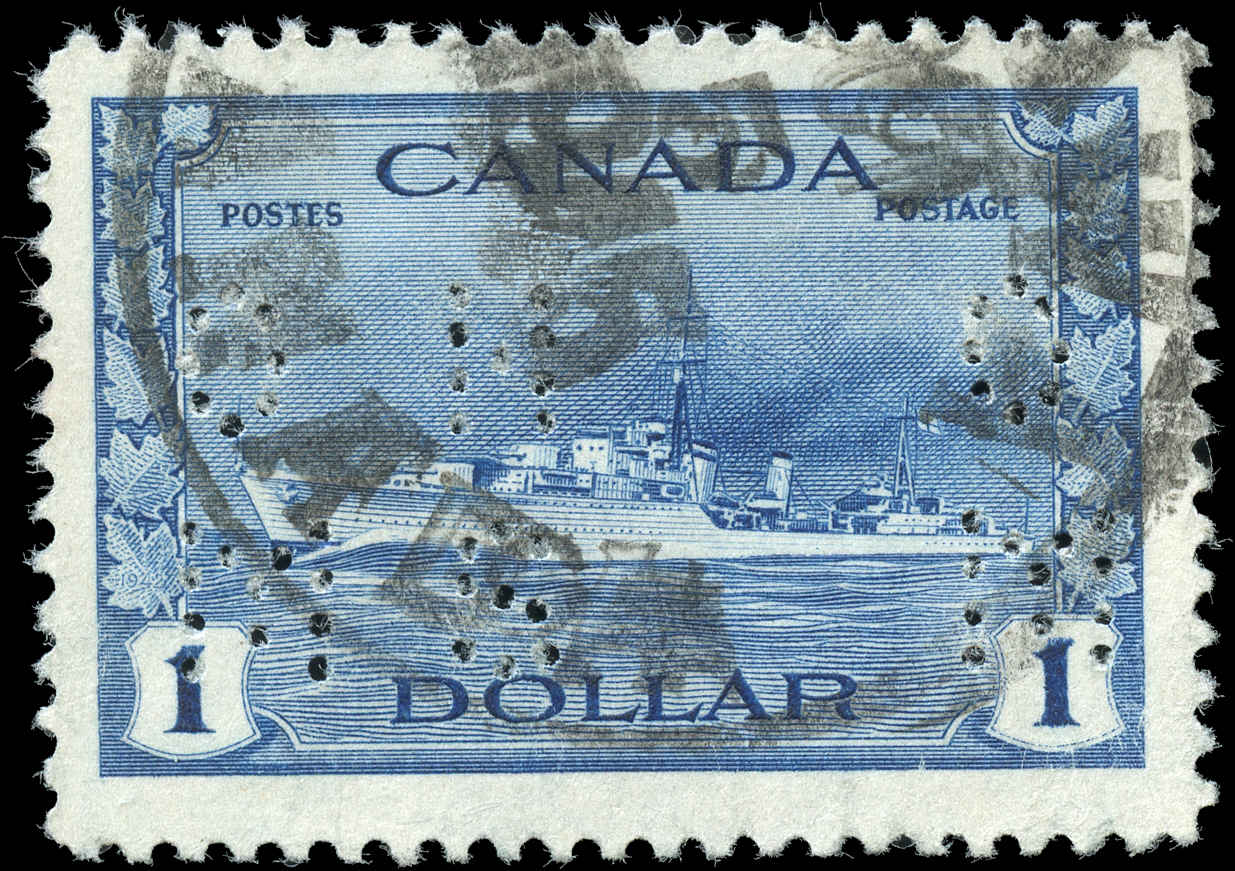 Canada #O262, Perforated Issue, F-VF, Used