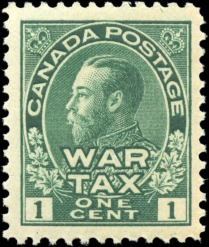 Canada #MR1, War Tax Issue, F-VF, MNH