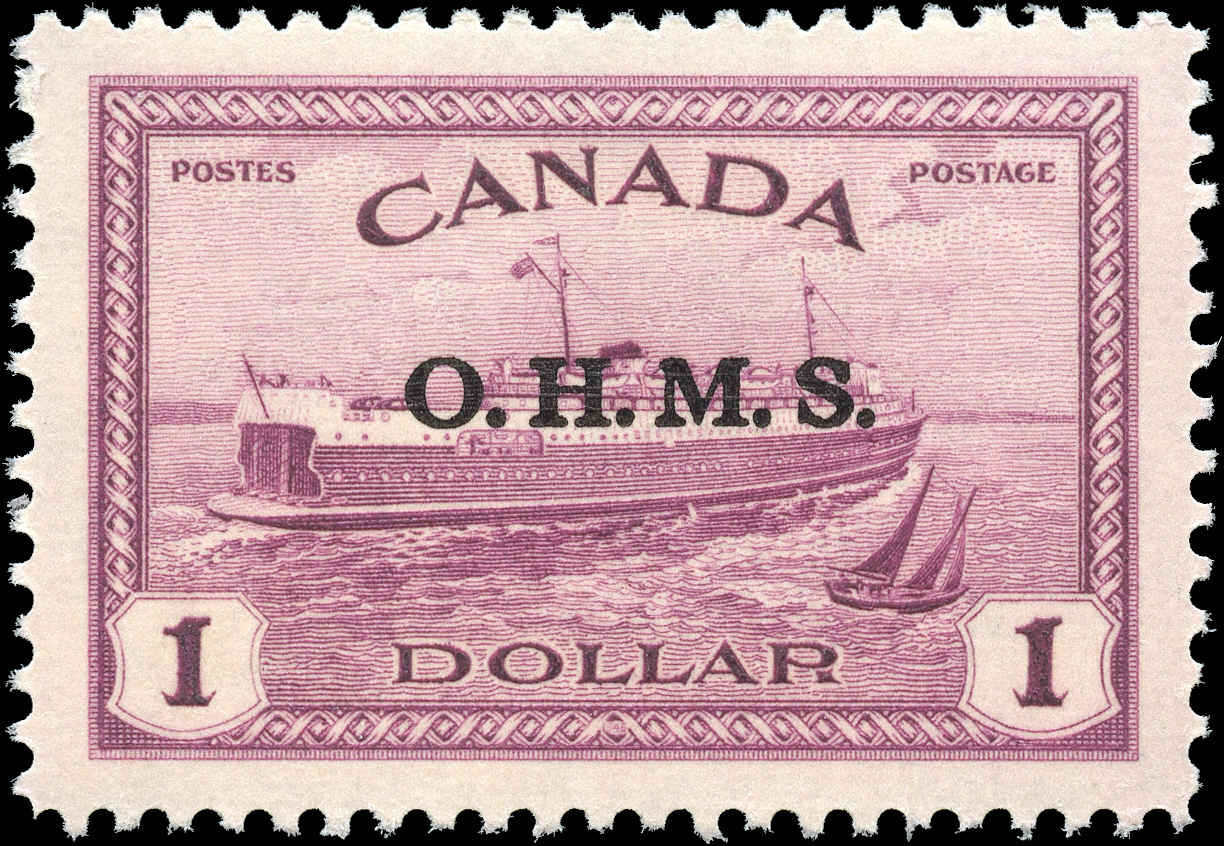 Canada #O10, Official Stamp, VF, MNH