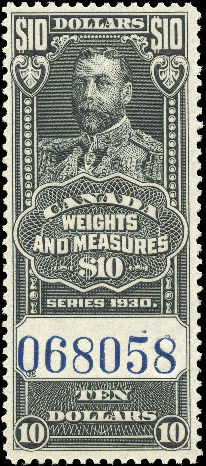 Canada #FWM71, Revenue Stamp, F-VF, MNH