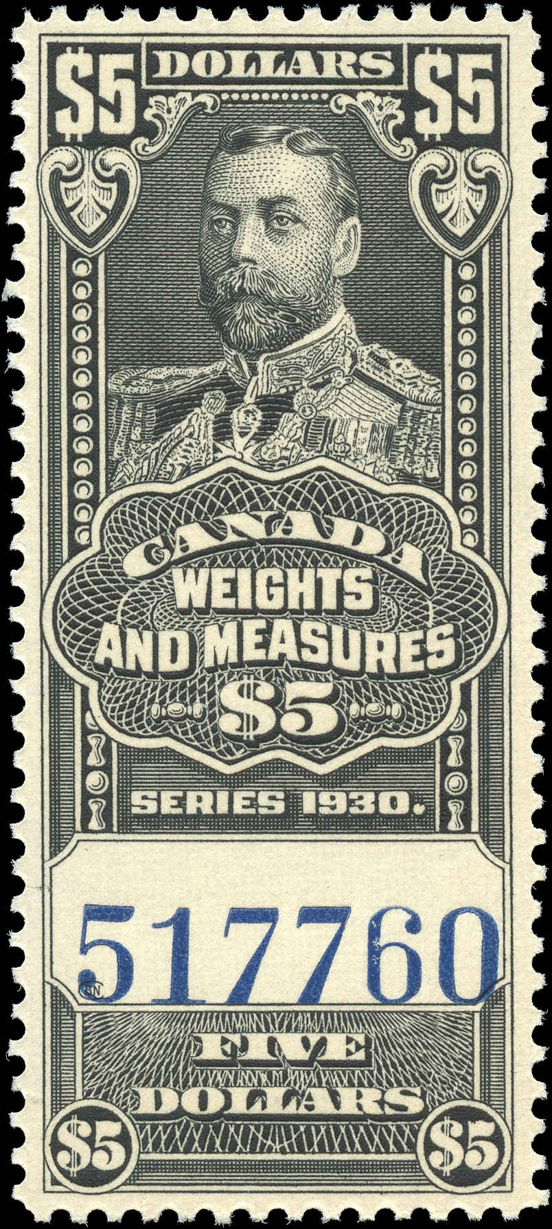 Canada #FWM70, Revenue Stamp, VF, MNH