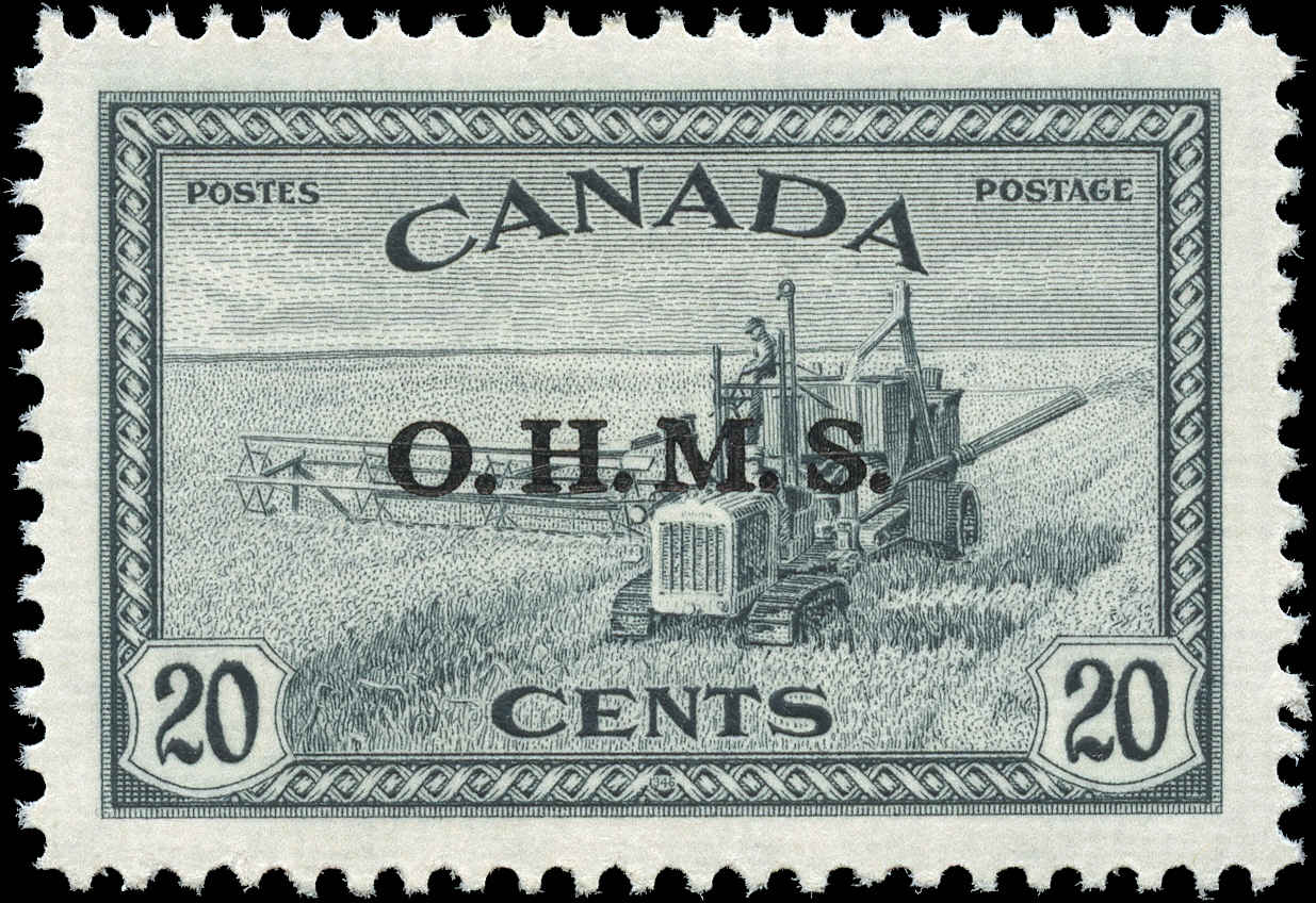 Canada #O8, Official Stamp, VF, MH