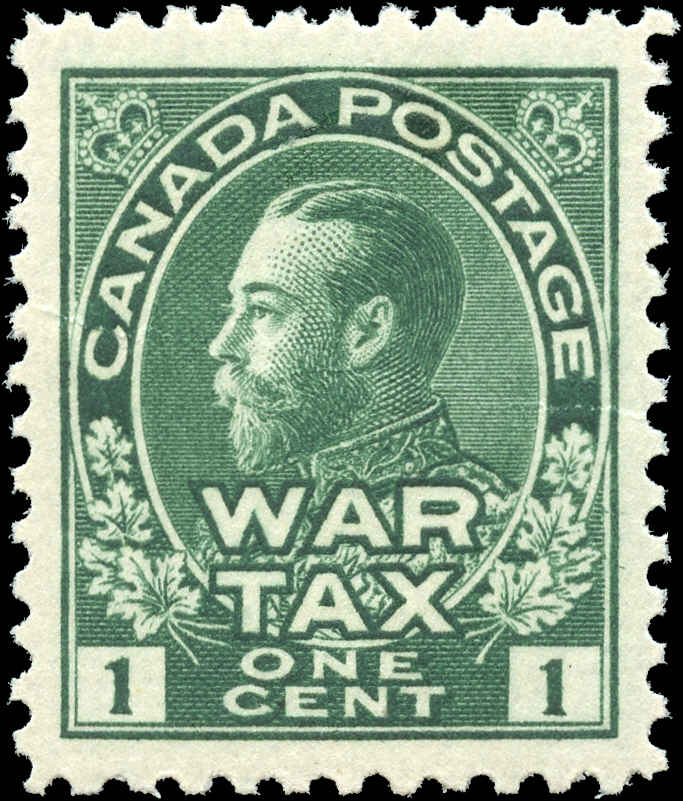 Canada #MR1, War Tax Issue, VF, MH