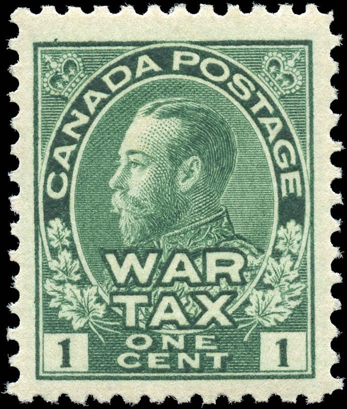 Canada #MR1, War Tax Issue, F-VF, MH