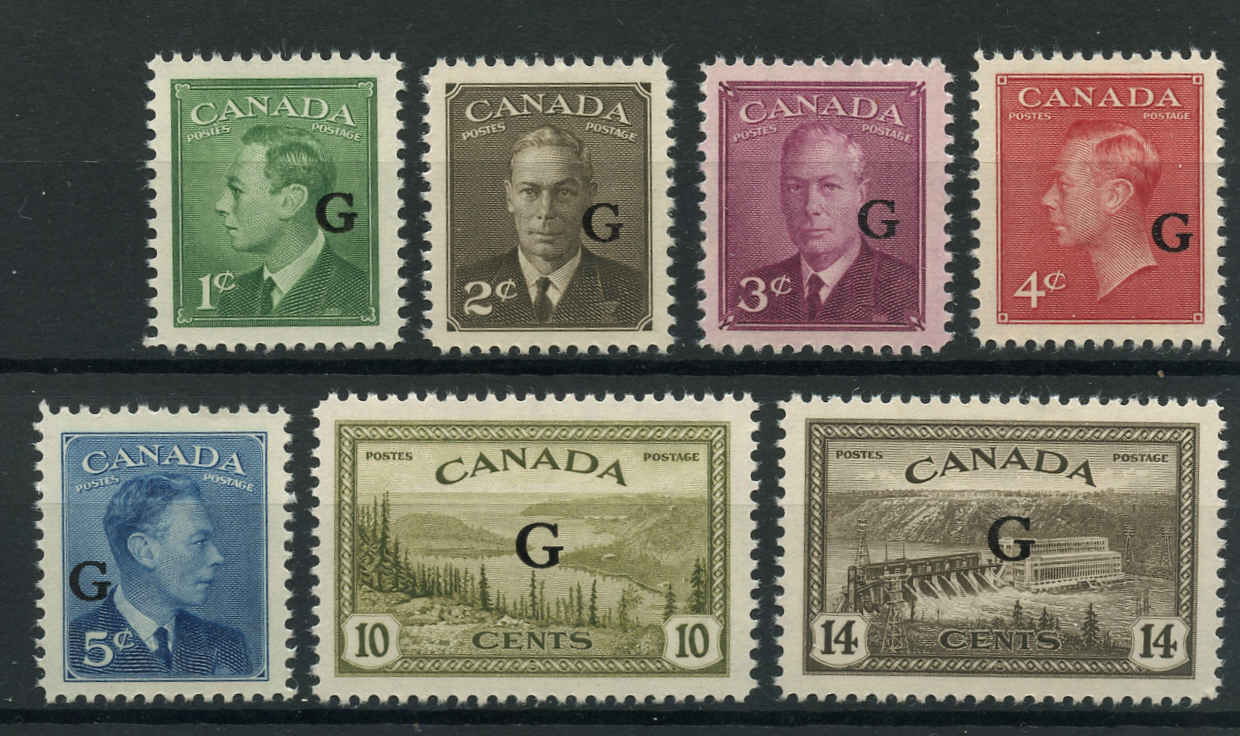 Canada #O16-O22, Official Stamps, VF, MNH