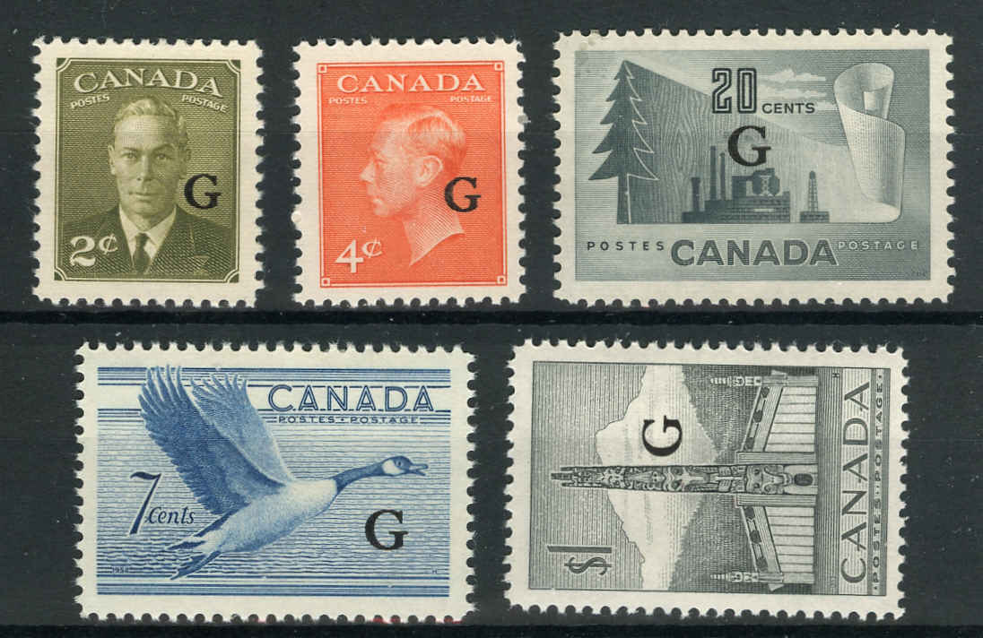 Canada #O28-32, Official Stamps, VF, MNH
