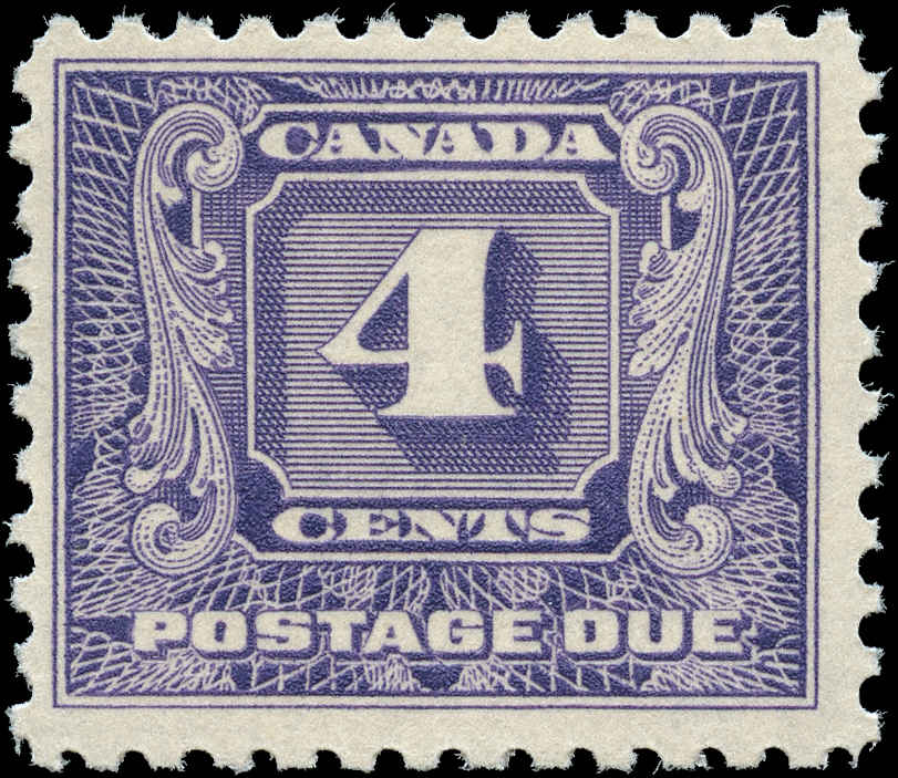 Canada #J8, Postage Due Issue, F+, MNH