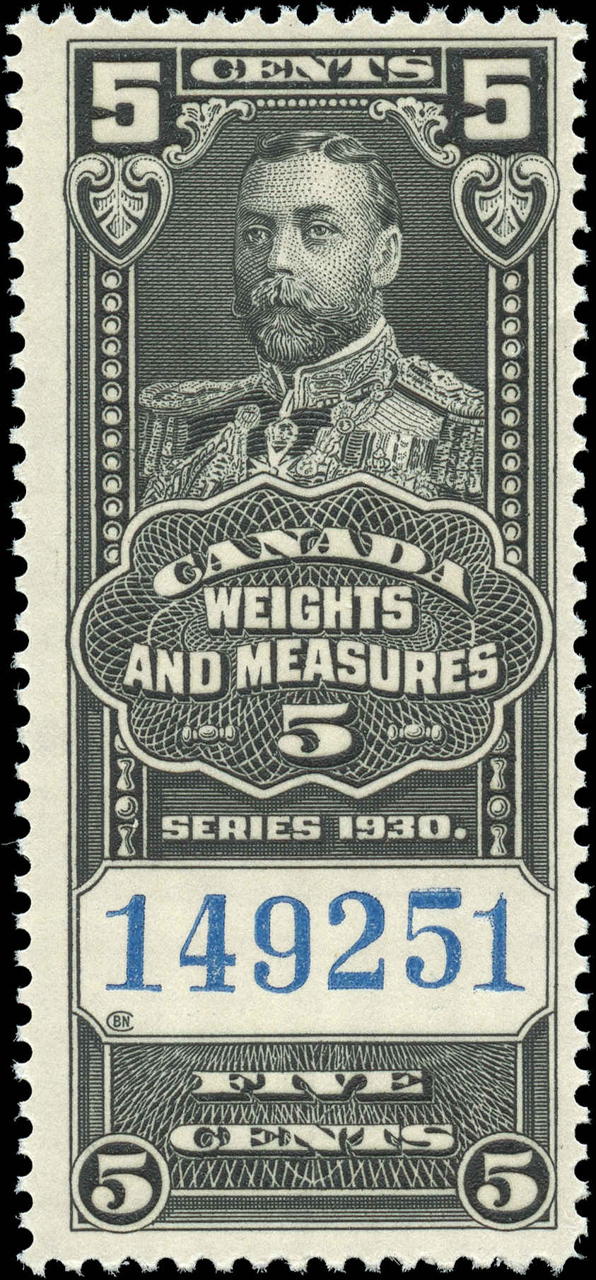 Canada #FWM60, Revenue Stamp, F+, MNH