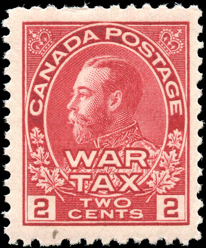 Canada #MR2, War Tax Issue, F-VF, MNH