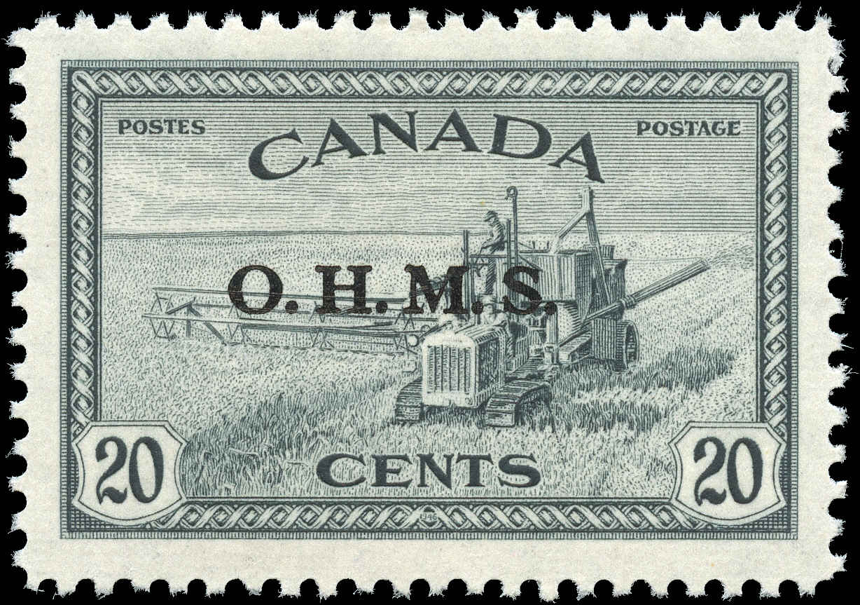 Canada #O8, Official Stamp, F-VF, MH