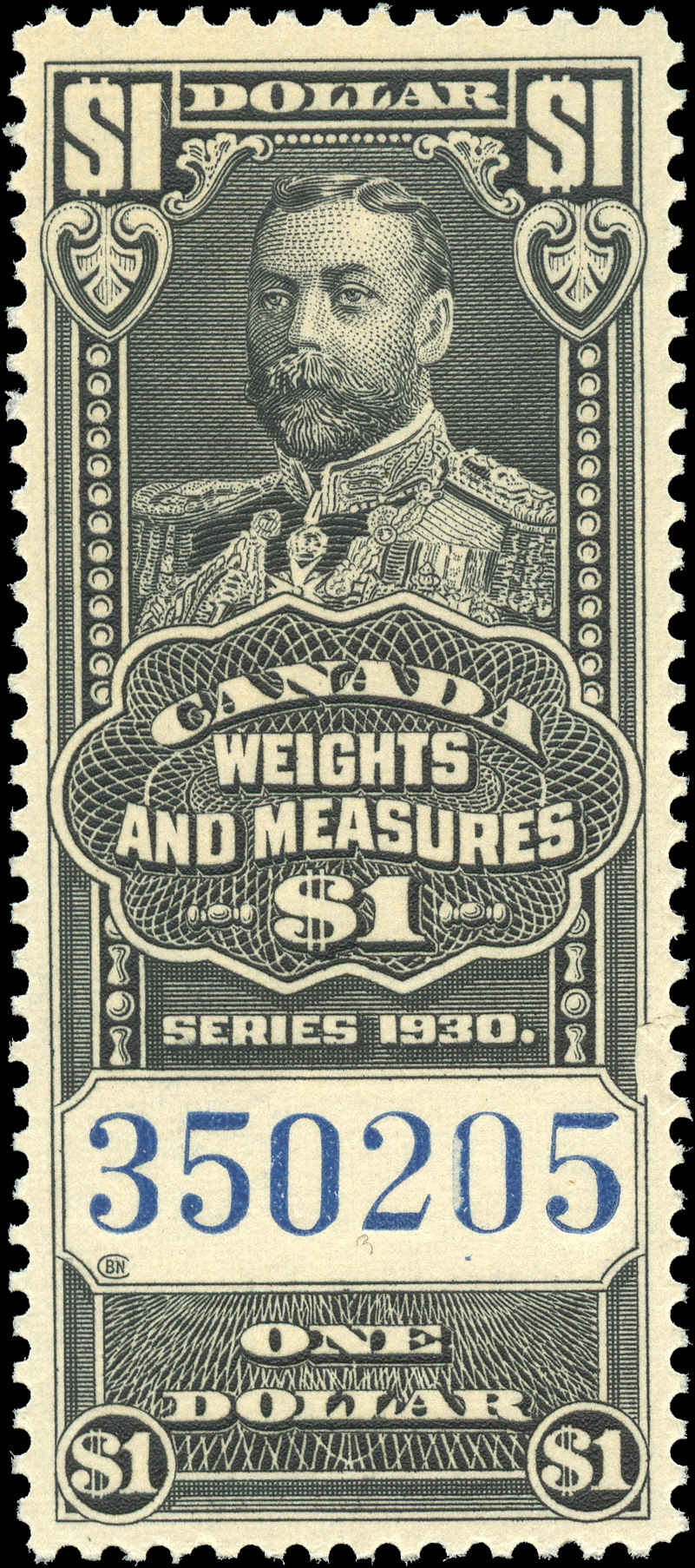 Canada #FWM67, Revenue Stamp, F-VF, MNH