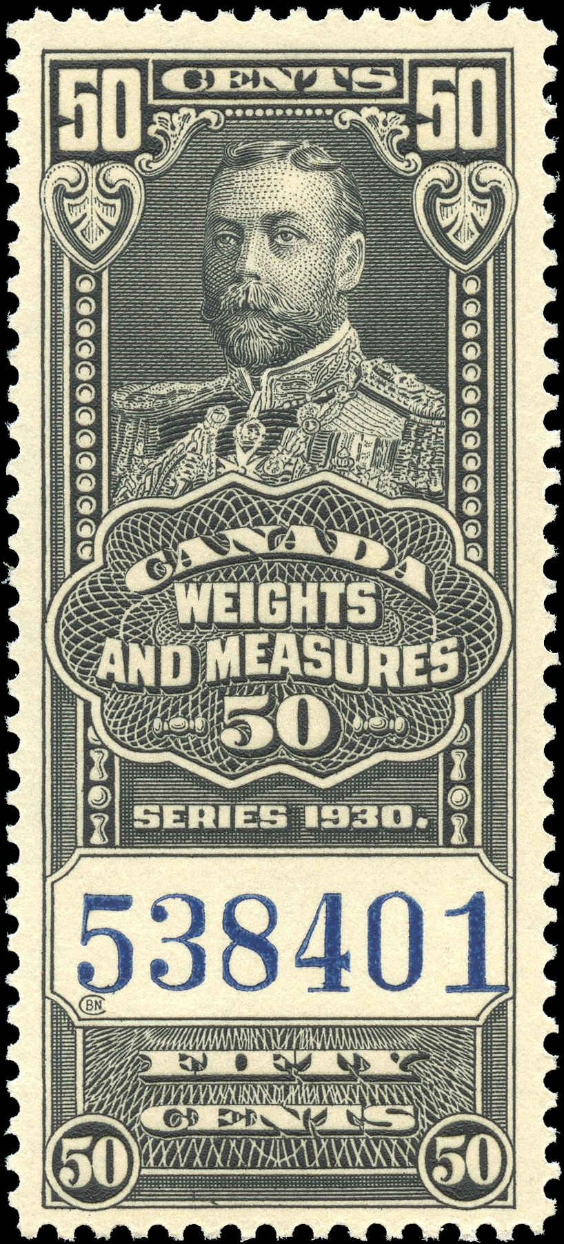 Canada #FWM65, Revenue Stamp, F-VF, MNH