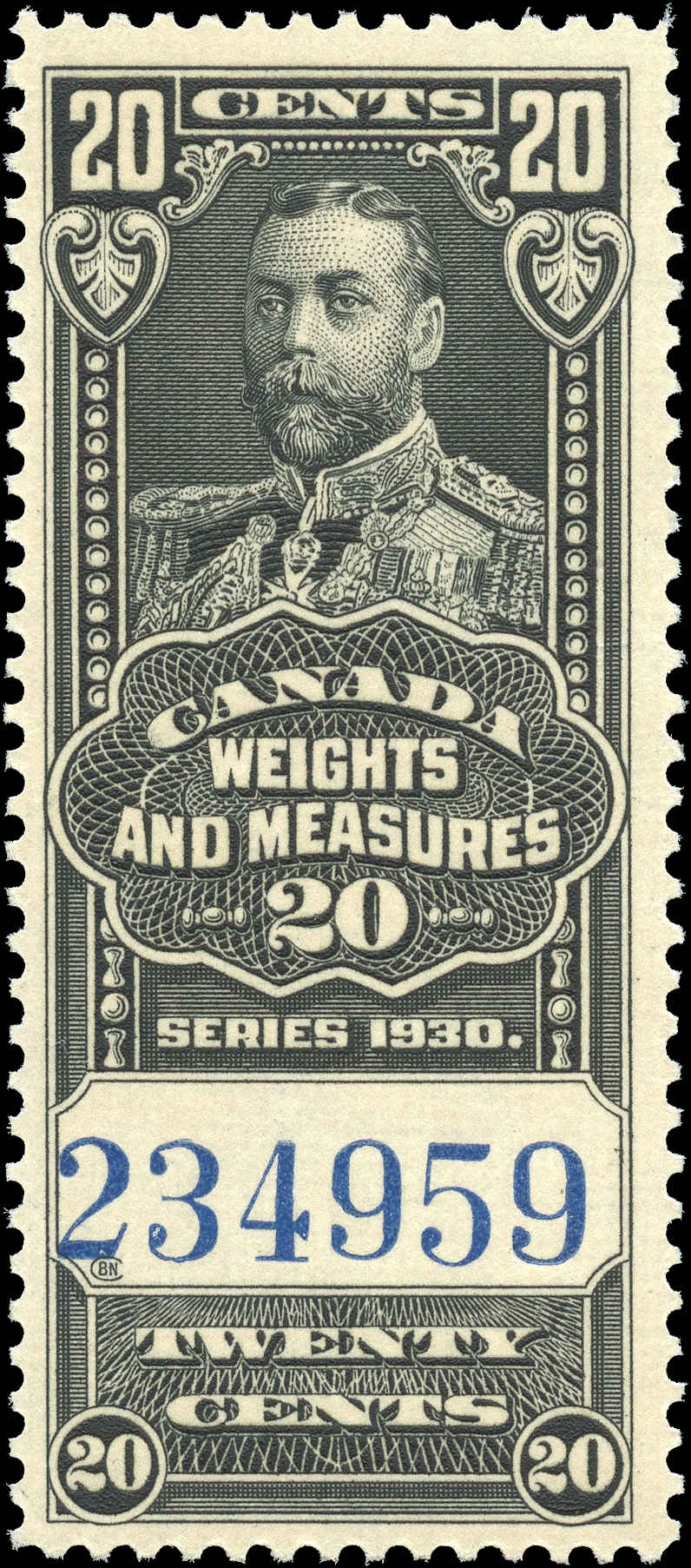 Canada #FWM63, Revenue Stamp, F-VF, MNH