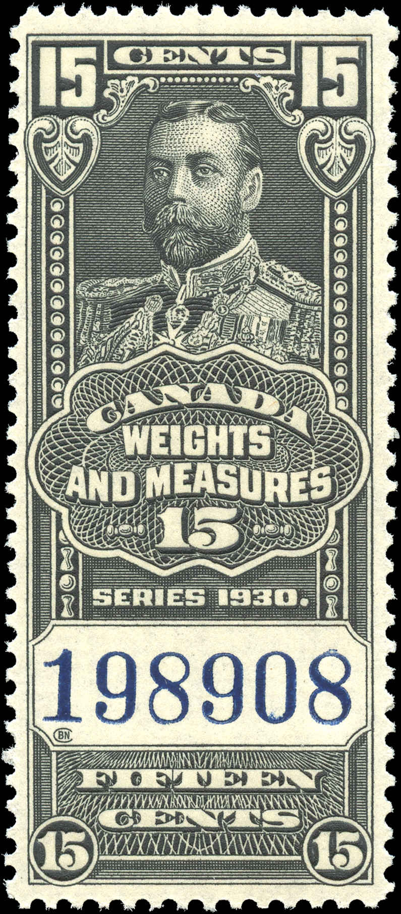Canada #FWM62, Revenue Stamp, F-VF, MNH