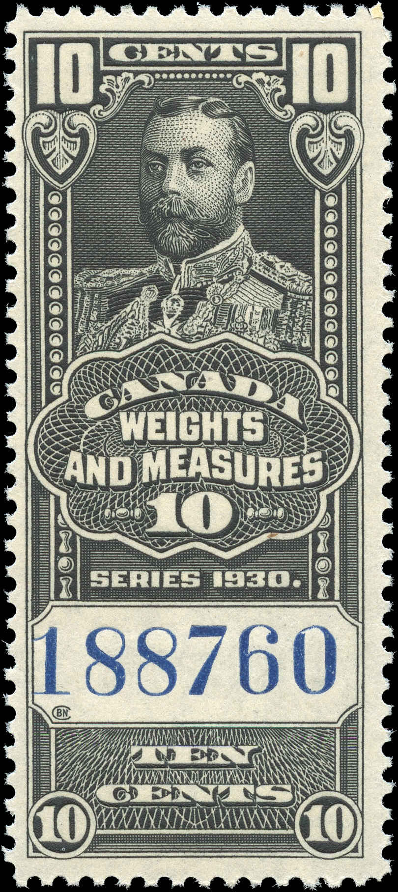 Canada #FWM61, Revenue Stamp, F+, MNH