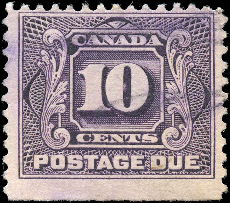 Canada #J5, Postage Due Issue, F, Used