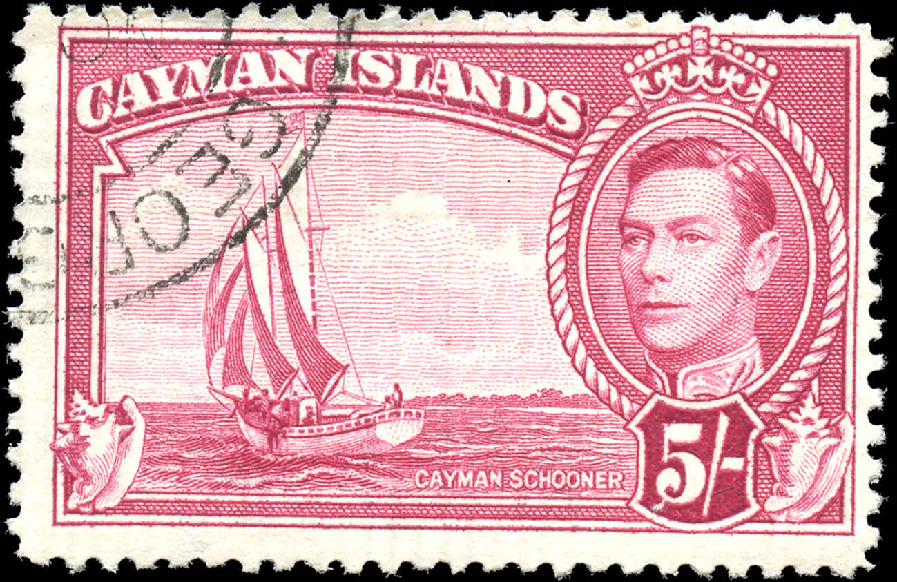 Cayman Islands, #110, F+, Used