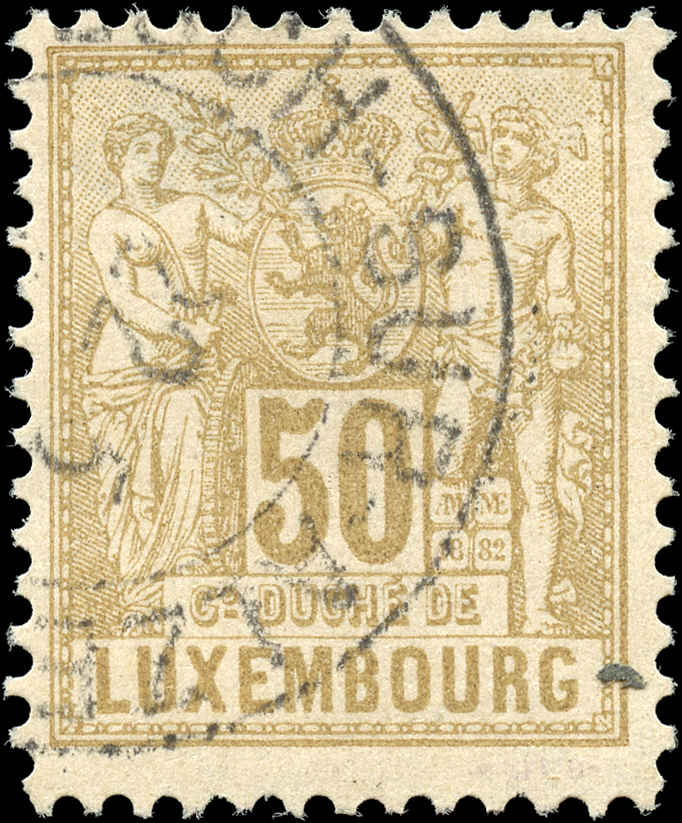 Luxembourg, ##57, F+, Used