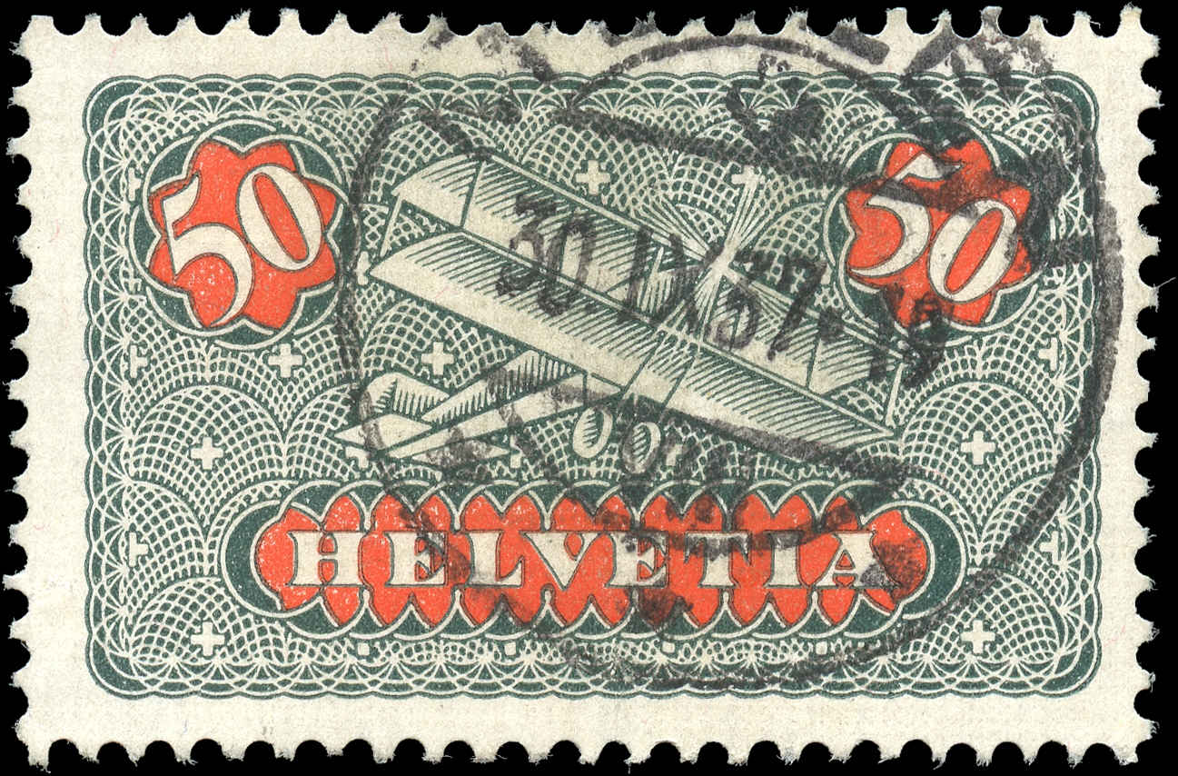 Switzerland #C9, F-VF, Used