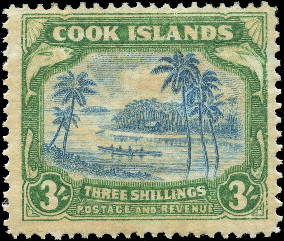 Cook Islands, #114, F+, MH