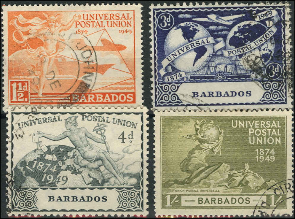 Barbados Stamp, Scott #212-215, F-VF, Used