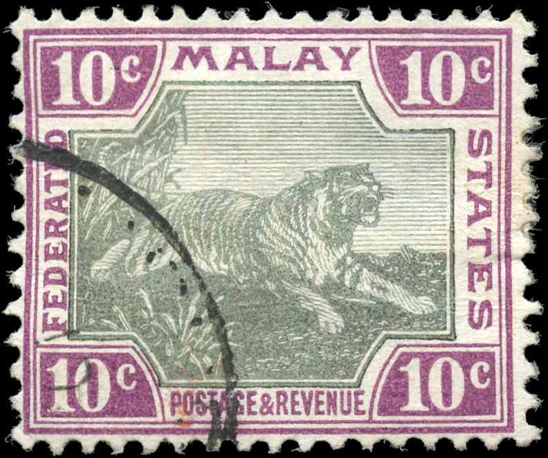 Malaya-Federated States, ##23a, F+, Used