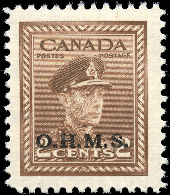 Canada #O2, Official Stamp, F-VF, MH