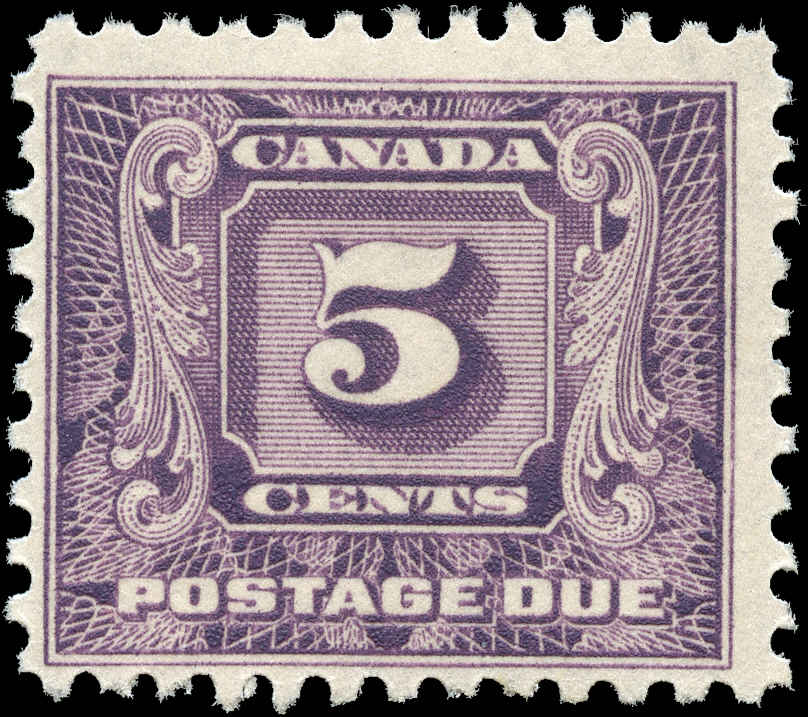 Canada #J9, Postage Due Issue, F+, MH