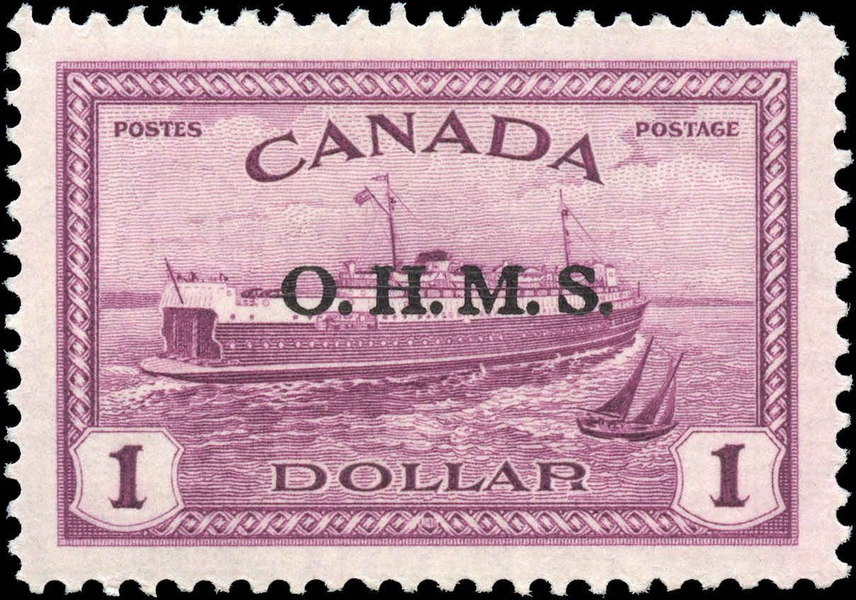 Canada #O10, Official Stamp, VF, MH