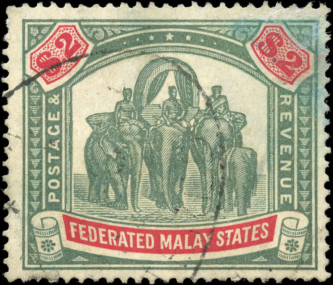 Malaya-Federated States, ##74, F+, Used