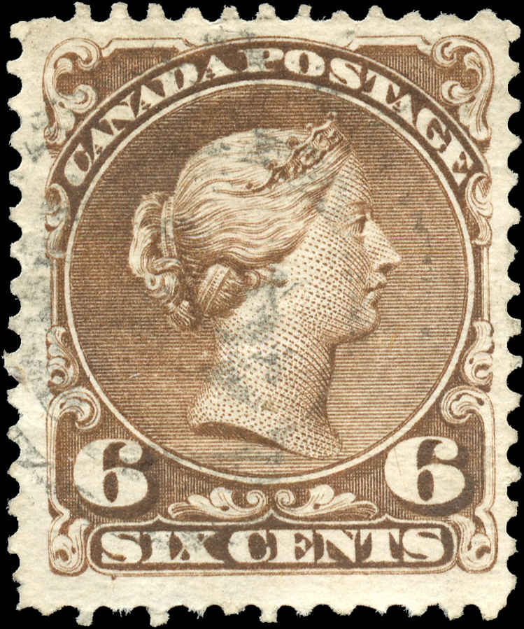 Canada ##27, Large Queen Issue, F+, Used