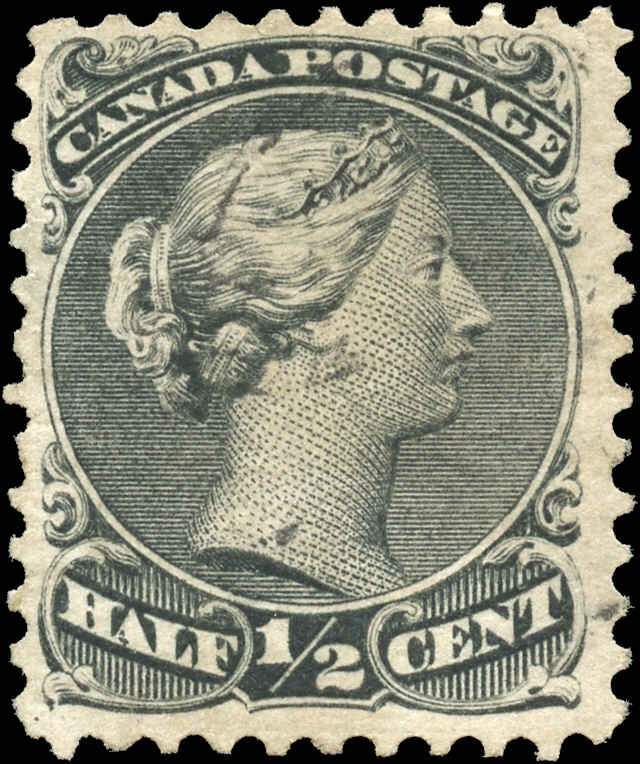 Canada ##21, Large Queen Issue, F+, Used