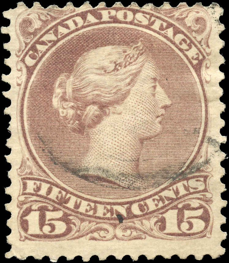 Canada ##29b, Large Queen Issue, F, Used