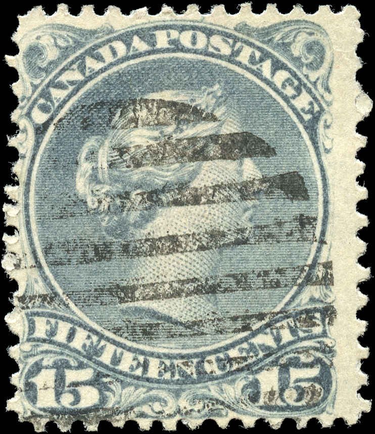Canada ##30b, Large Queen Issue, F, Used