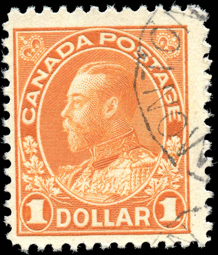 Canada #122, Admiral Issue, F+, Used