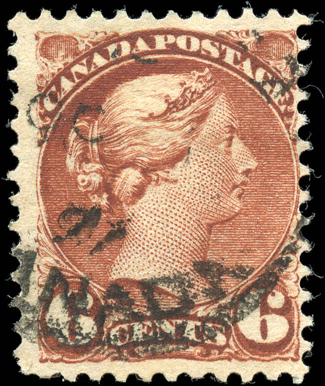 Canada ##43, Small Queen Issue, F, Used