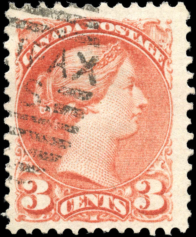 Canada ##37a, Small Queen Issue, F+, Used