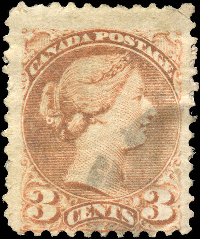 Canada ##37ii, Small Queen Issue, F, Used