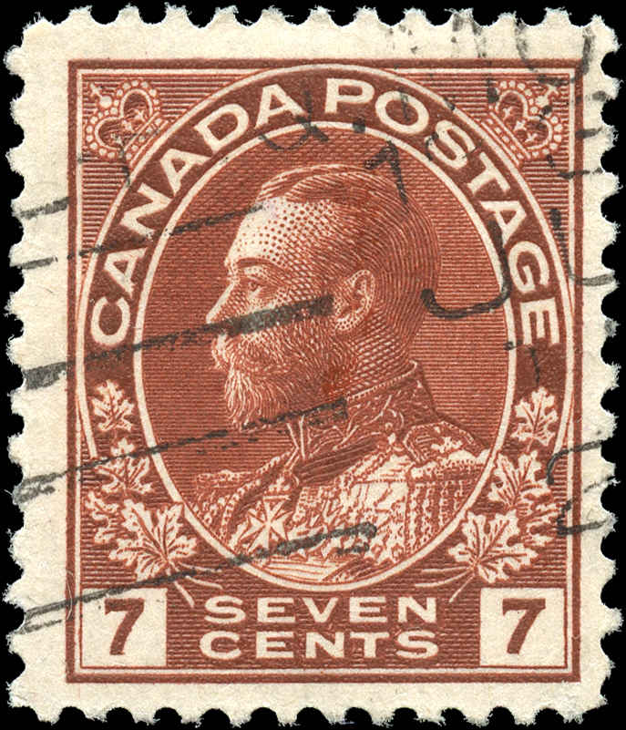 Canada #114, Admiral Issue, F+, Used