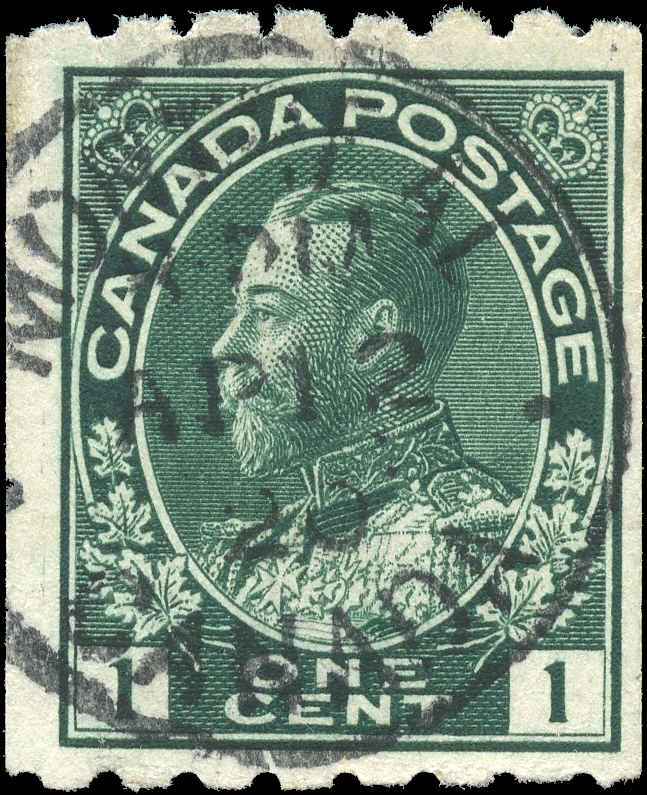 Canada #123, Admiral Issue, F+, Used