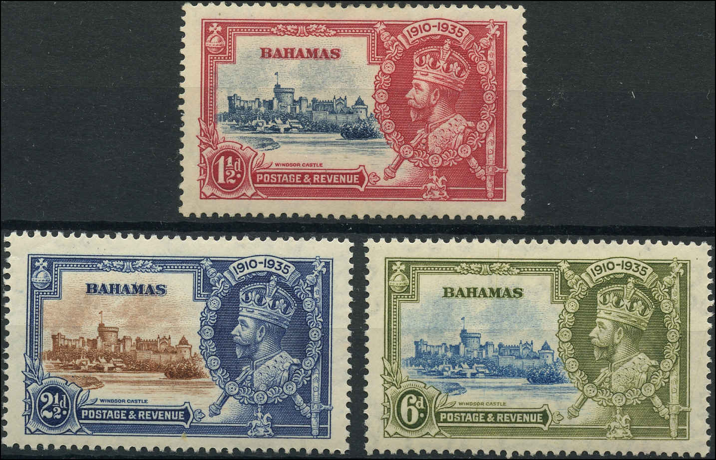 Bahamas Stamp, Scott ##92-94, F-VF, MH