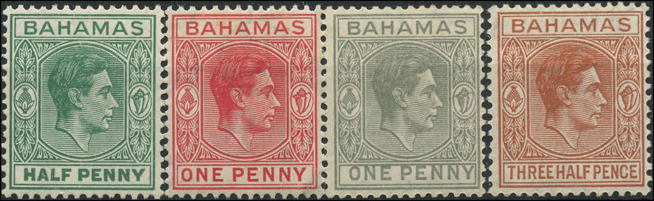 Bahamas Stamp, Scott #100-102, F-VF, MH