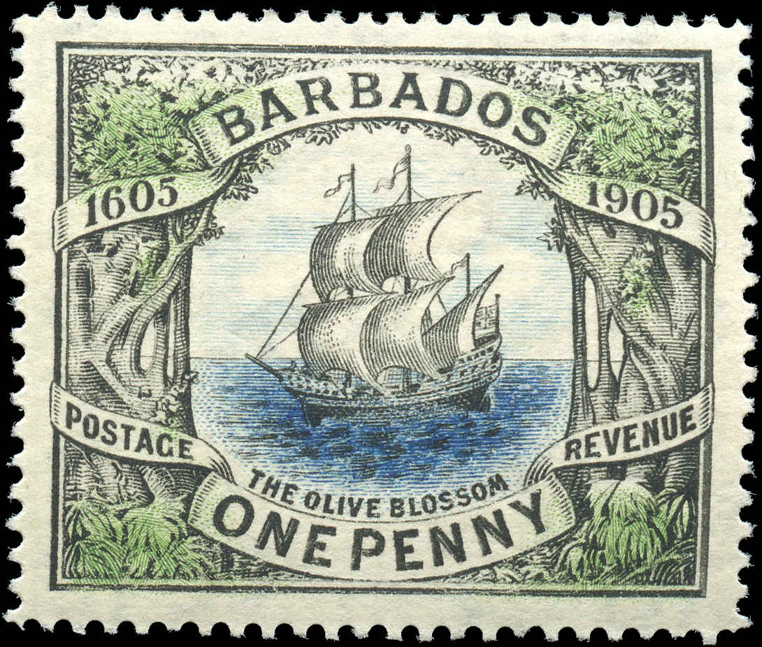 Barbados Stamp, Scott #109, F-VF, MH